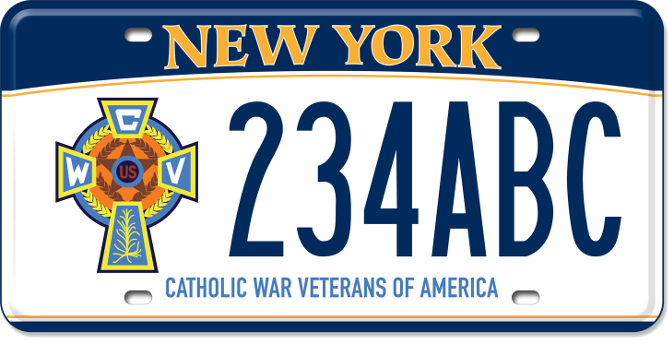 Catholic War Veterans of America custom plate