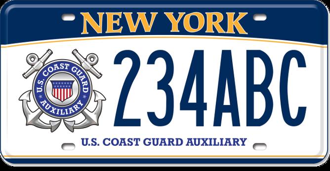 U.S. Coast Guard Auxiliary custom plate