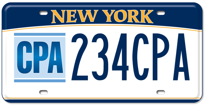 CPA custom plate