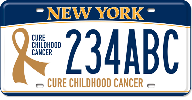 Cure Childhood Cancer - custom plate
