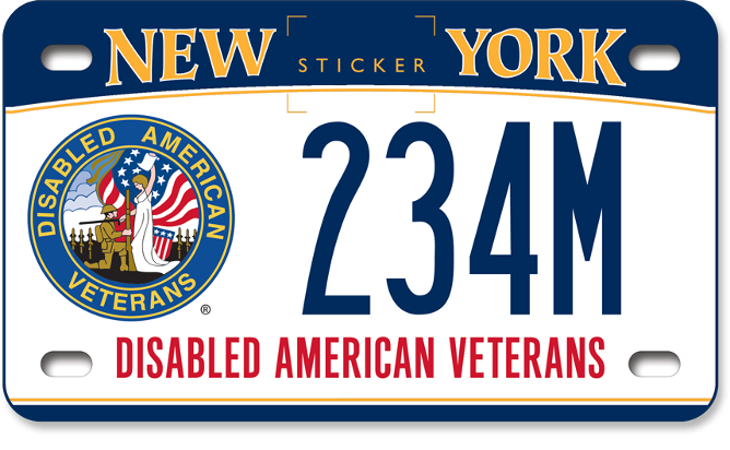 Disabled American Veteran motorcycle custom plate
