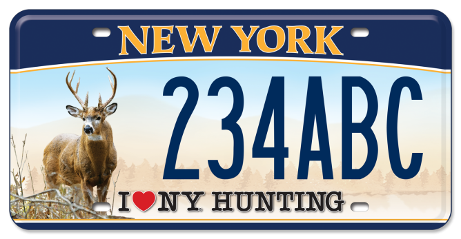 I Love NY Hunting - Deer custom plate