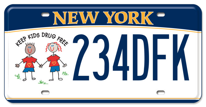 Keep Kids Drug Free custom plate