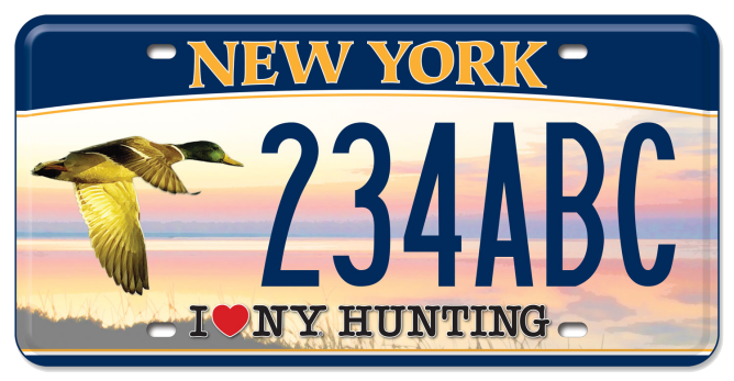 I Love NY Hunting - Duck custom plate