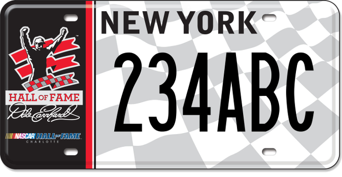 Dale Earnhardt NASCAR Hall of Fame custom plate