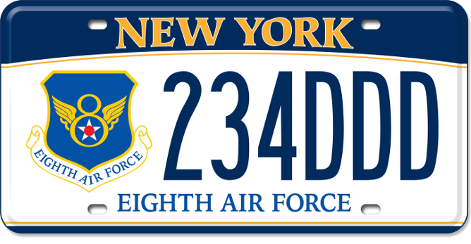 8th Air Force Historical Society custom plate