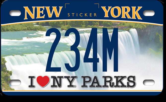 I Love NY Parks - Niagara Falls custom motorcycle plate