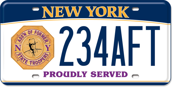 Association of Former NYS Troopers custom plates