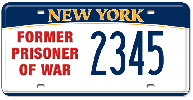 Former Prisoner of War custom plate