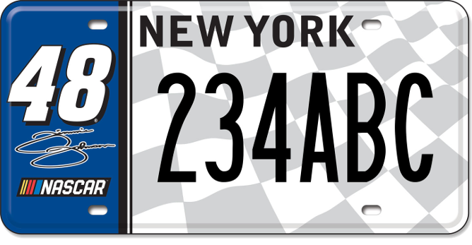 Jimmie Johnson custom plate