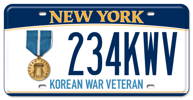 Korean War Veteran custom plate