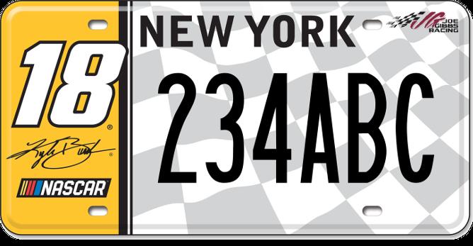 Kyle Busch custom plate