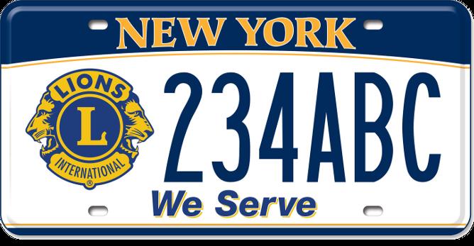 Lions Club custom plate