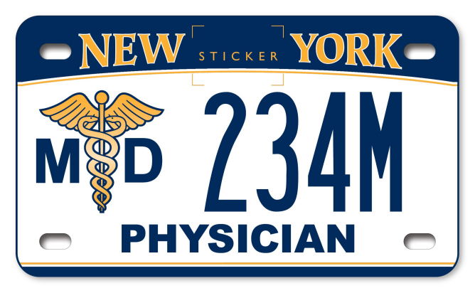 Medical Doctor custom motorcycle plate