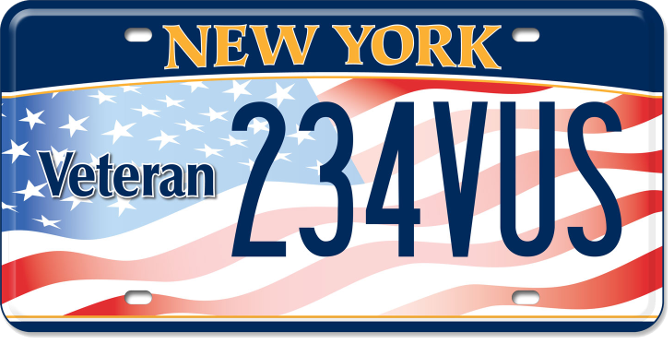 US Veteran custom plate