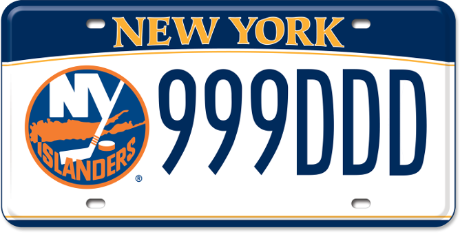 New York Islanders custom plate