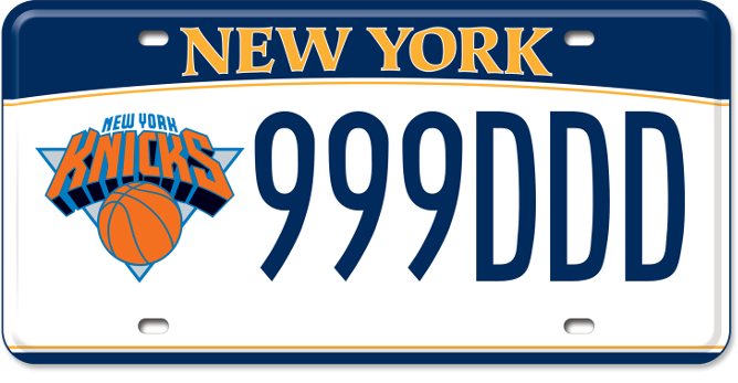 New York Knicks custom plate