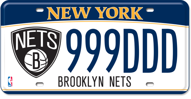 Brooklyn Nets custom plate