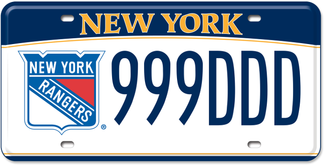 New York Rangers custom plate