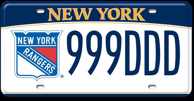 New York Rangers custom plate