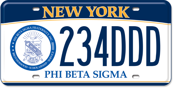 Phi Beta Sigma custom plate