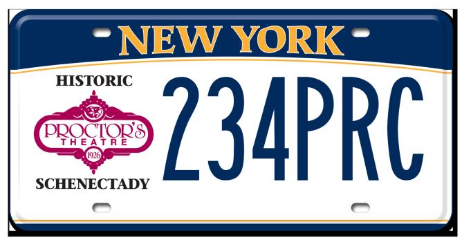 Schenectady-Proctor's custom plate