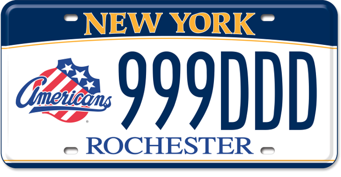 Rochester Americans custom plate