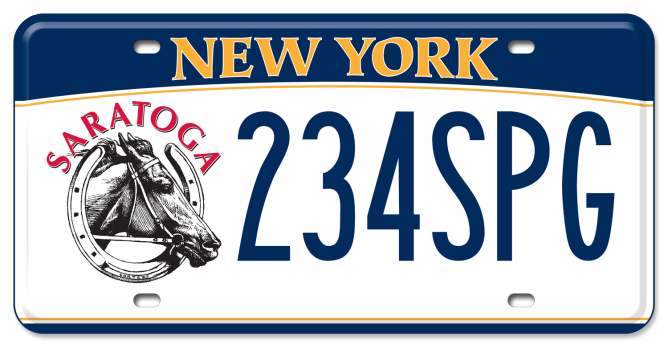 Saratoga / Cortez Horse Racing custom plate