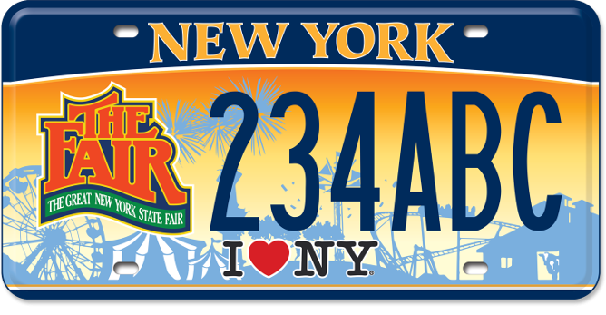 State Fair custom plate