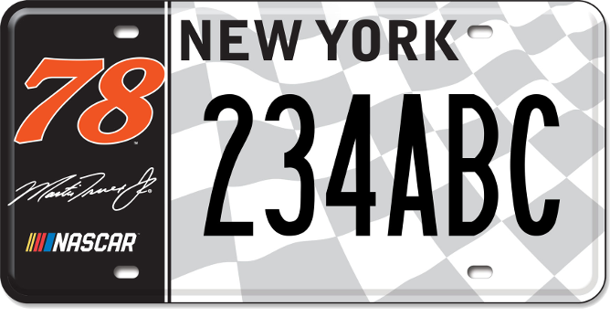 Martin Truex, Jr. custom plate