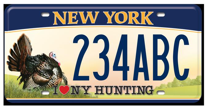 I Love NY Hunting - Turkey custom plate