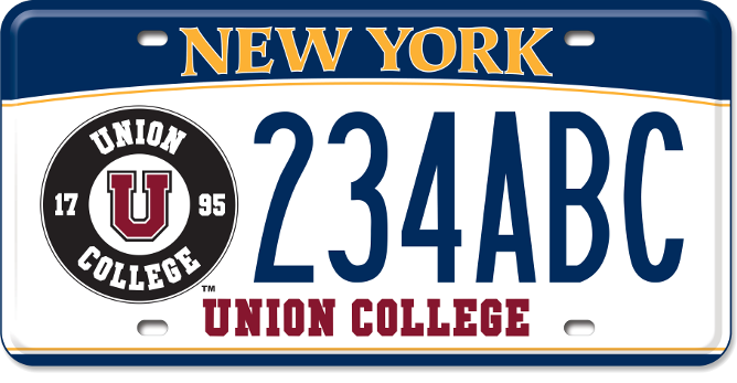 Union College custom plate