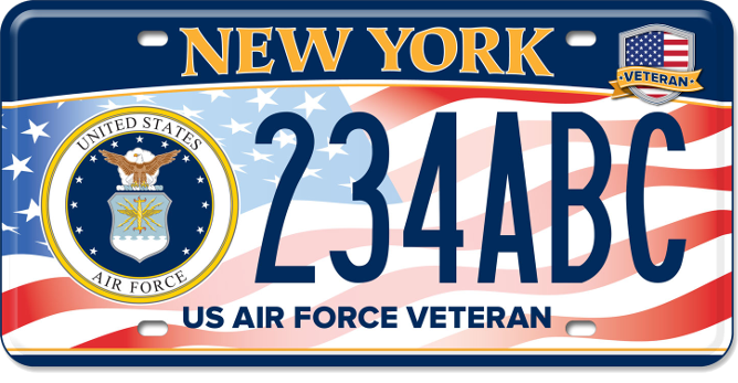 US Air Force Veteran custom plate