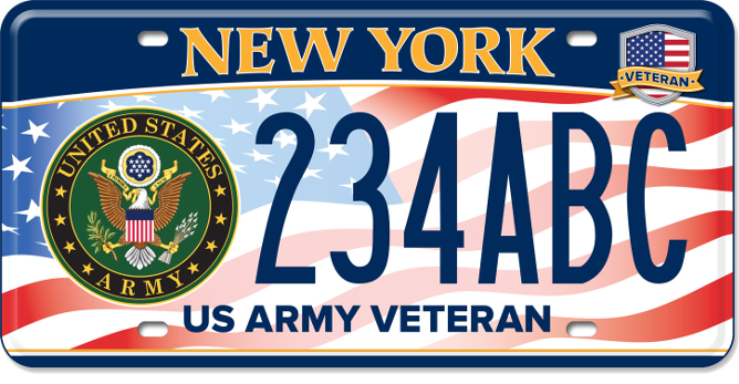 US Army Veteran custom plate