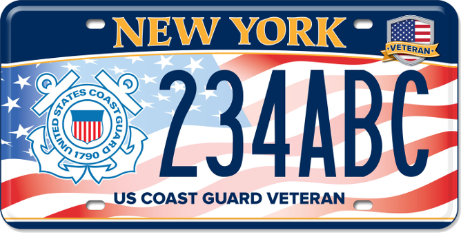 US Coast Guard Veteran custom plate