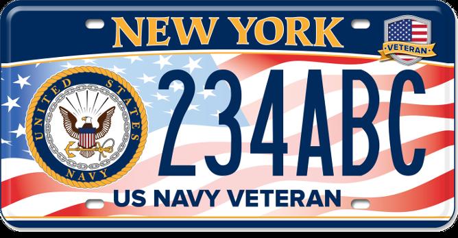 US Navy Veteran custom plate