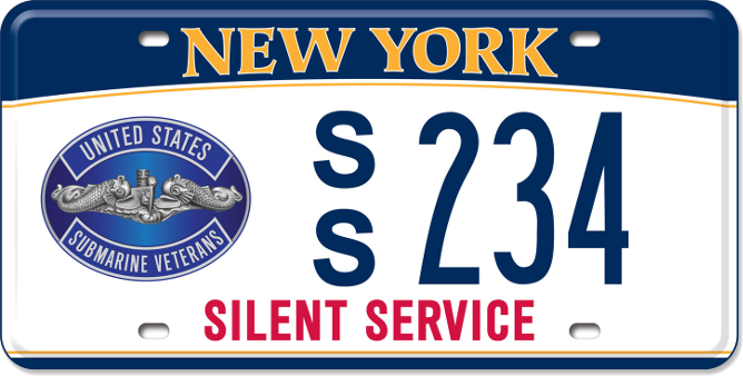 US Submarine Veteran custom plate
