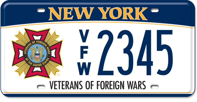 Veterans of Foreign Wars custom plate