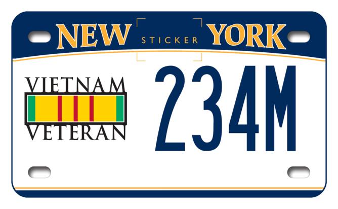 Vietnam Veteran motorcycle custom plate