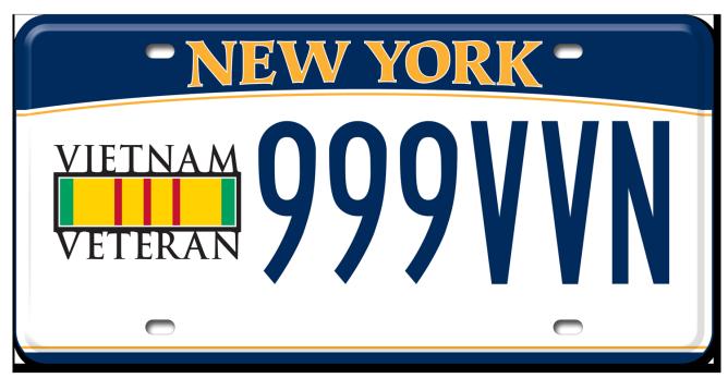 Vietnam Veteran passenger custom plate