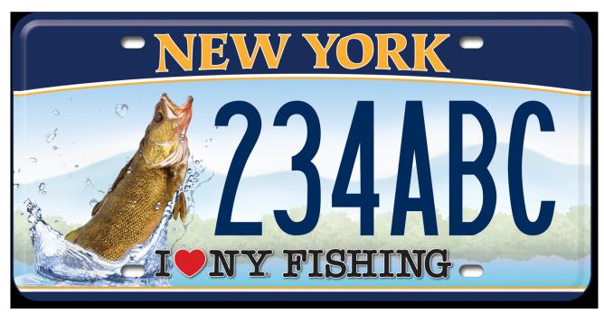 I Love NY Fishing - Walleye custom plate