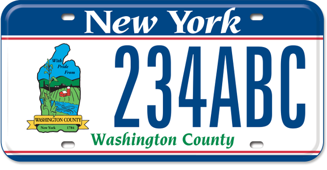 Washington County custom plate