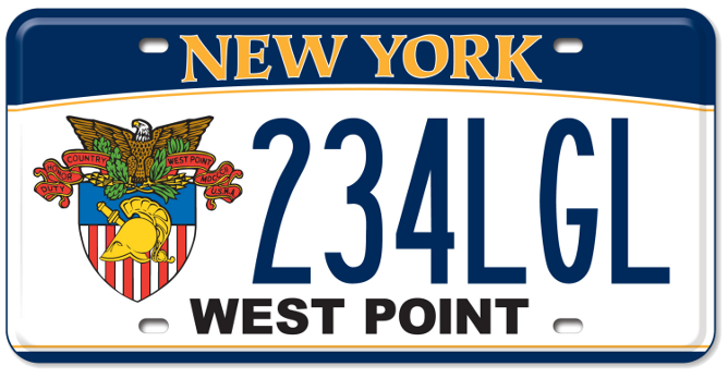 United State Military Academy custom plate