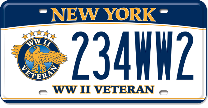 World War II Veteran custom plate