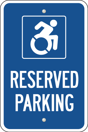 Parking Sign - Reserved Parking for People with Disabilities