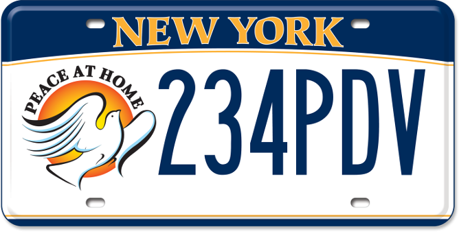 Peace at Home custom plate