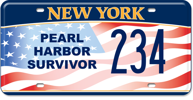 Pearl Harbor Survivor custom plate