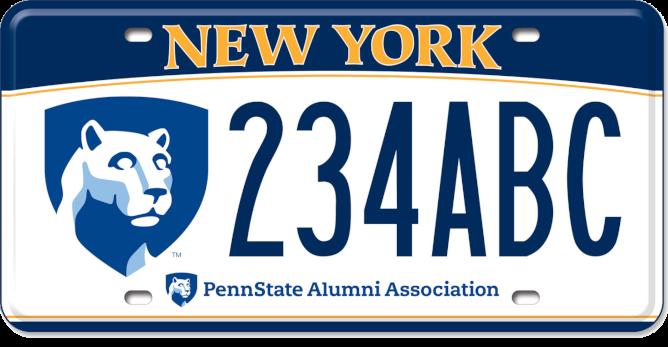 Penn State Custom License Plate