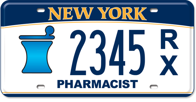 Pharmacist custom plate