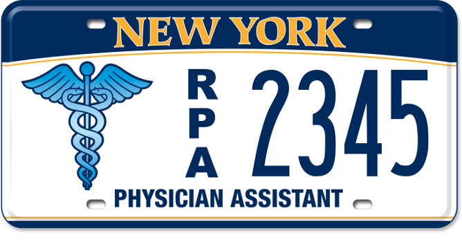 Registered Physician's Assistant custom plate